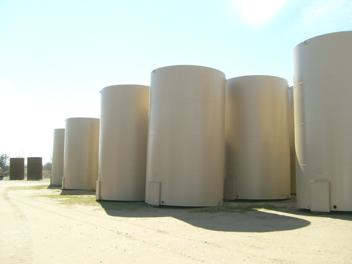 Upright view of tanks